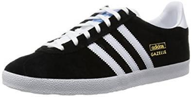 adidas Originals GAZELLE OG, Low-top adulte mixte Black White FA