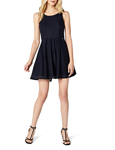 ONLY Damen Kleid onlLINE Fairy LACE Dress WVN NOOS, Blau (Night Sky), 38