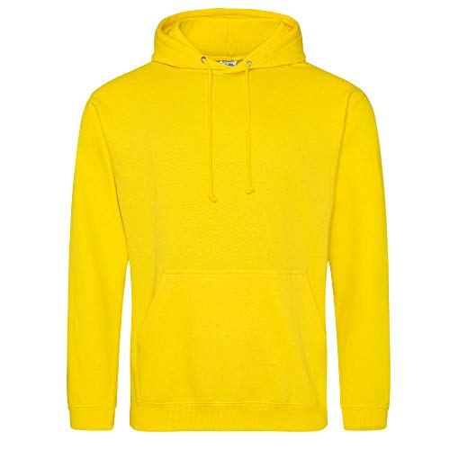Just Hoods College Hoodie, Sun Yellow, M