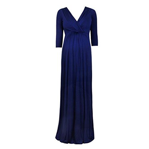*Binhee Schwangere Damen Kurzarm Kleid Schlank Blau Umstandskleid*
