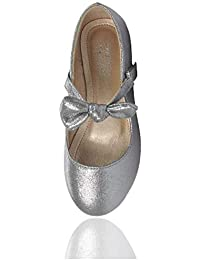 33c43dc44aa6 Girls Glitter Mary Jane Shoes Pretty Party Wear Size 4 5 6 7 8 9 10