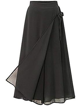 Pureed Donna Pantaloni Baggy Prodotto Waist Sciolto Leggero Palazzo Casualechic Eleganti Culotte Plus Pantaloni...