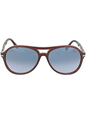 Persol Gafas de Sol OFFICINA PO 3194S TRANSPARENT BROWN/BLUE SHADED hombre