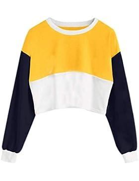 Mujer blusa camiseta tops manga larga calle moda fashion 2018 Otoño,Sonnena Blusa de manga larga con cordón para...