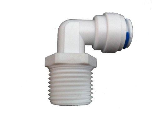 1 / 4 Zoll Schrauben, In Bogen mit Steckkupplung für Wasserfilter Gehäuse mit 1 / 4 Zoll), filter und Umkehrosmose System