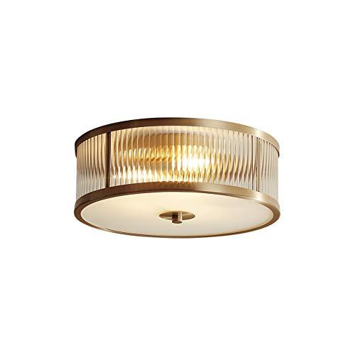 PeiQiH Trommel kronleuchter,Einfache Retro Kreativ Kupfer Deckenlampe Balkon Gang Innenbeleuchtung -kleine 40x14cm(16x6inch) -
