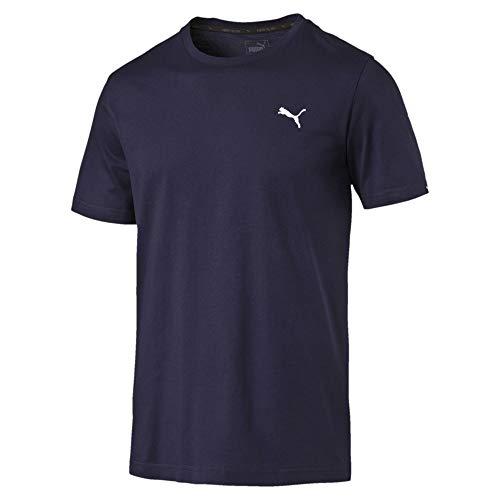 Puma Style Essentials Herren T-Shirt Peacoat XL (Gerippte Puma Jersey)