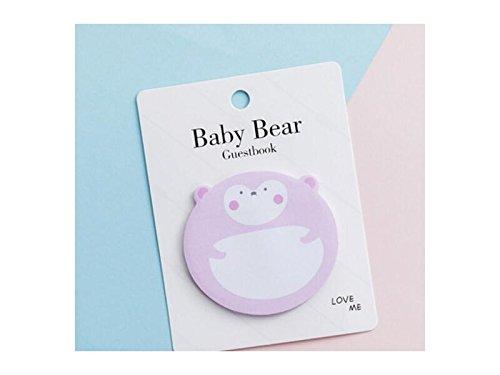 Kelaina Neuheit Baby Bär Haftnotiz für Klassifizierung Angelegenheiten Management Nachricht Hinweis (Pink)