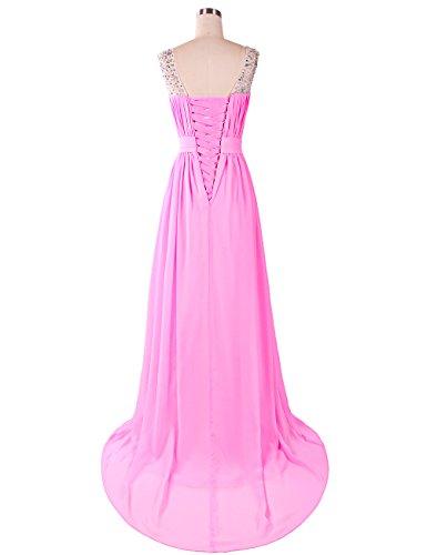 Dresstells, Robe de soirée de mariage/cérémonie/demoiselle d'honneur forme princesse traîne moyenne avec strass Raisin