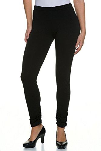 GINA LAURA Damen | Leggings | Super-Stretch | Größe S-XXXL | hoher Bund, seitliche Raffung | Baumwolle | schwarz 3XL 199225 10-3XL