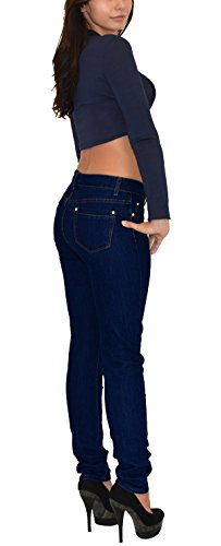 by-tex Damen Röhrenjeans Damen Jeans Damen Jeanshose bis Übergröße Übergrösse Gr. 52, 54, 56, Blau