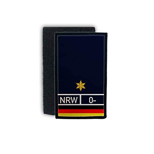 Copytec Patch Polizeirat Beamter Dienst Abzeichen Rank Blood Blut 9,8x6cm #30873 -