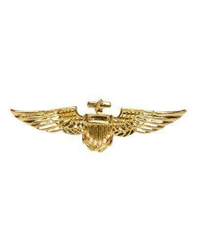 Goldglänzendes Piloten Abzeichen (Pilot Sexy Kostüme)