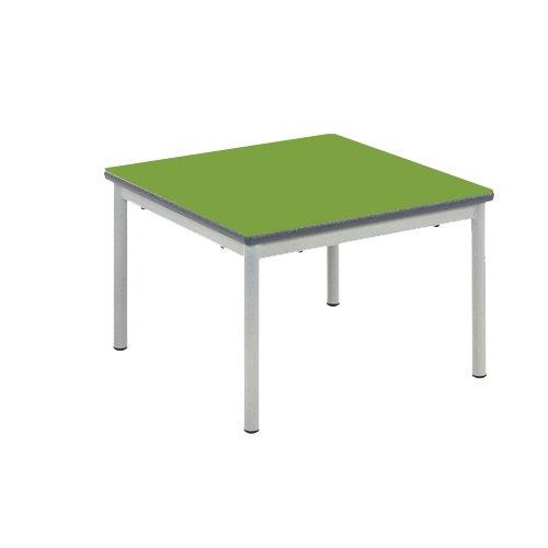 color verde borde azul poliuretano duraform Mesa con rueda Metalliform CONC-M-PS-BL-46-SV-Soft Lime Connect