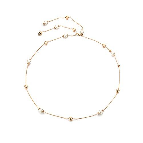 e34559fb3b7428 Perle Diamant Damen Taille Kette Charme Gürtel Silber Taillengürtel  Kettengürtel - gold, onhe size