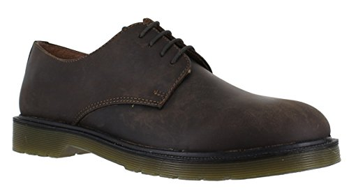 rosso-nastro-avon-da-uomo-con-suola-con-cuscinetto-d-aria-stringate-lavoro-scarpe-marrone-marrone-45