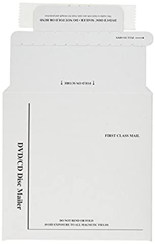 Foam-Lined Multimedia Mailer, Contemporary, 5 x 5, White, 25/Box