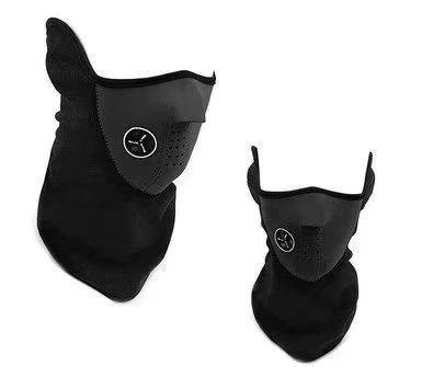 Generic Hals-Gesichtsmaske aus Neopren für Sport, Fahrrad, Motorrad, Ski, Snowboard, Schwarz -