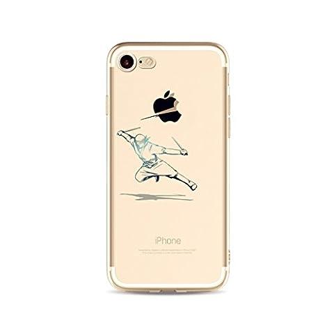 MUTOUREN Coque pour Apple iPhone 6 Plus/6S Plus Ultra Slim TPU Case Modèle simple Housse Silicone Extrême Souple Etui Gel Fine Couverture Arrière Anti Poussières Couvercle Anti Dessin casse créatif - guerrier