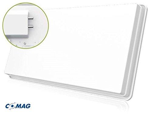 COMAG X1311 Twin Hochleistungs SAT Flachantenne für zwei Teilnehmer inkl. Fensterhalterung