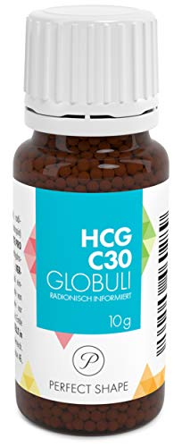HCG Globuli für Stoffwechselkur (HCG Diät) - Potenz C30, 100% hormonfrei (Das Original aus der Apotheke)