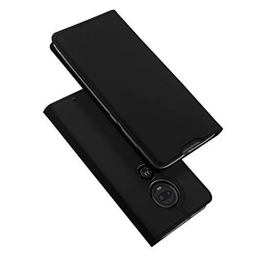 DUX DUCIS Hülle für Moto G7 / Moto G7 Plus, Leder Flip Handyhülle Schutzhülle Tasche Case mit [Kartenfach] [Standfunktion] [Magnetverschluss] für Motorola Moto G7 / Moto G7 Plus (Schwarz)