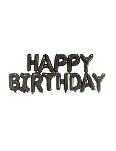 WSJQQ Brief Ballons Folie Spanien Happy Birthday Alphabet Ballon Geburtstagsfeier Dekorationen Kinder Baby Shower Bälle Black