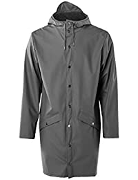 RAINS Long Jacket Chaqueta, Hombre, Charcoal, S/M