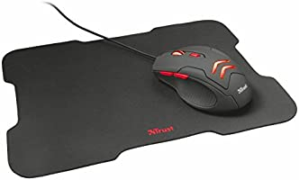 Trust Ziva gaming-muis en muispad zwart