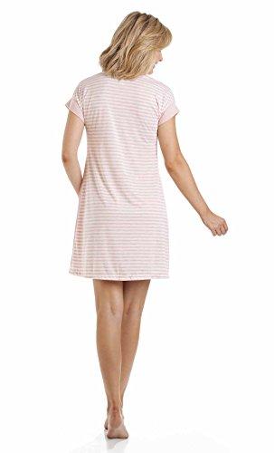 La Marquise chiné pour femme Motif à rayures à manches courtes avec imprimé Nighty Pantalons de nuit Rose - Rose