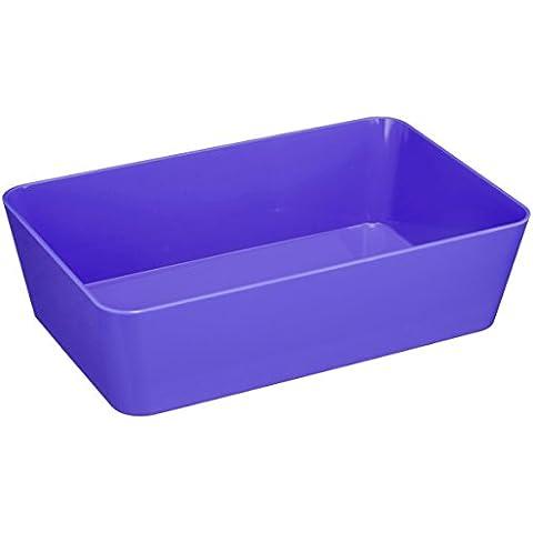 WENKO 20315100 caja y cesta de almacenaje - cajas y cestas de almacenaje (Storage tray, Púrpura, De plástico, Monótono, Rectangular,
