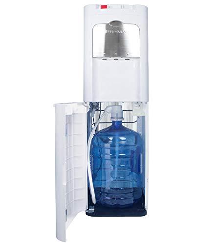 Dispensador de Agua de botellón. Carga Inferior. Color Blanco. Agua fría, Caliente y Natural, con Sistema Auto-higienizante de Ozono