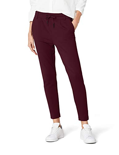ONLY Damen Hose Onlpoptrash Easy Colour Pant Pnt Noos, Rot (Port Royale), W27/L32 (Herstellergröße: S) -