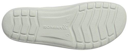 Romika Damen Village 305 G Pantoffeln Weiß (weiss 000)