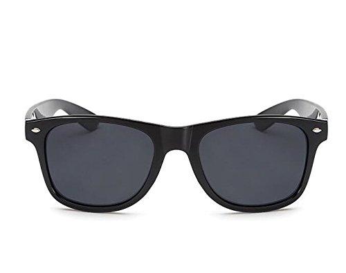YLLY Unisex Schwarz Objektiv Big-Frame Sonnenbrille Wayfarer Sonnenbrille Reisen Outdoor UV400 Schutz Mens Damen