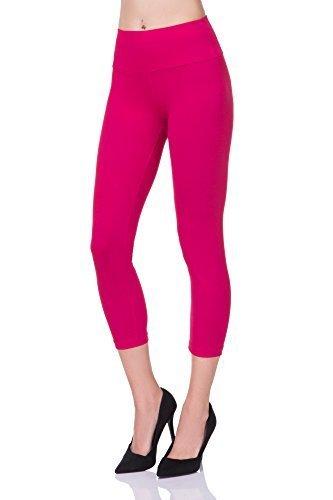 futuro fashion abgeschnitten 3/4 Länge hohe Taille Leggings Bedienfeld aktiv-hose lwp34 Rosa