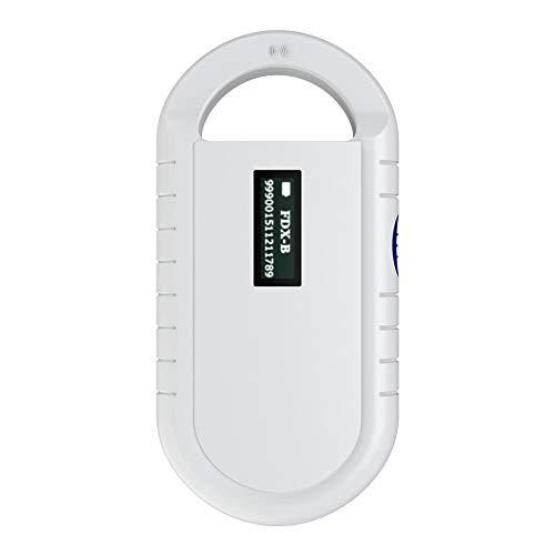 Zerone Scanner Puce pour Animaux domestiques, Lecteur de Puce PDA Universel pour Animaux Support pour lecteurs RFID Portable pour ISO 11784/11785, FDX-B et ID64RFID