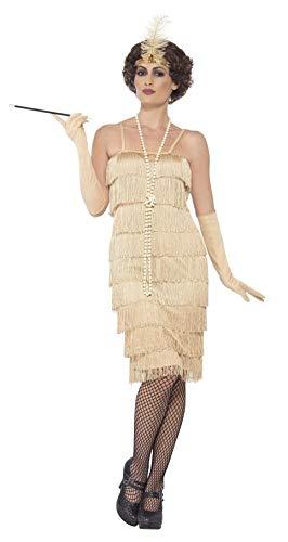Smiffys 44679S - Damen Flapper Kostüm, Größe: 36-38, gold