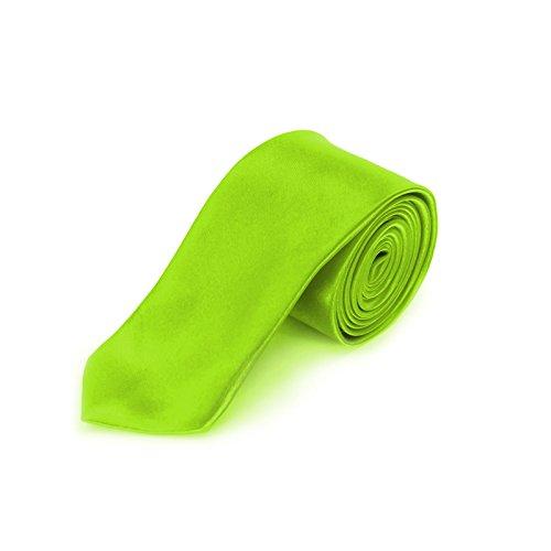 Oblique Unique schmale Krawatte, Farbe wählbar (Neon Grün)