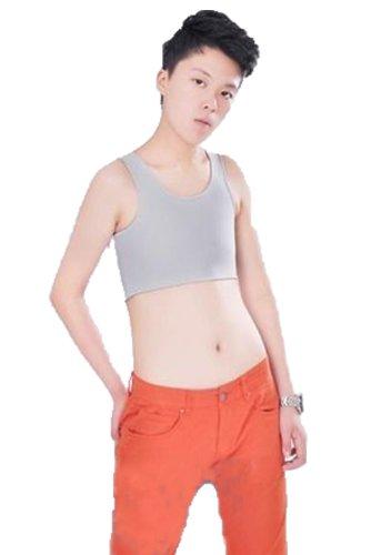 Schnalle, atmungsaktiv, Brust Ringbuch Trans Lesbian Tomboy Tank Top Grau - Grau