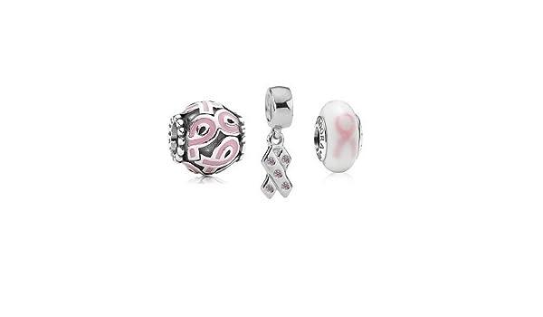 3743904b1 Pandora Breast Cancer Awareness Charm Set BB35: Amazon.co.uk: Jewellery