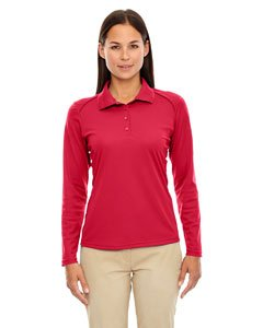 Ladies' Eperformance� Snag Protection Long-Sleeve Polo CLASSIC RED 850 XS (Red Birdseye-performance-polo)