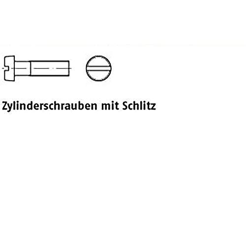 Zylinderschrauben ISO 1207 4.8 M 3 x 8 galv. verzinkt gal Zn VE=K 200 Stück - Scheibe Verzinkt 8 3