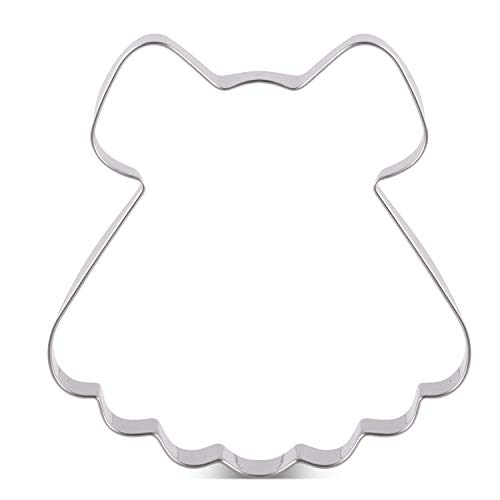 KENIAO Baby Kleid Ausstecher für Babyparty Fondant Brot Ausstechformen - 10,2 x 10,8 cm - Edelstahl