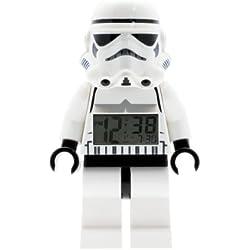 LEGO Despertador con luz infantil con figurita de la tropa de asalto Star Wars 9002137