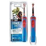 Oral B D12 Star Wars - Cepillo dental oscilante, color azul y rojo