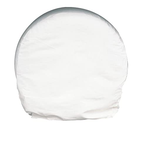Astro 9004 White Heavy Canvas 13-Inch-15-Inch Wheel Covers, Set of 4