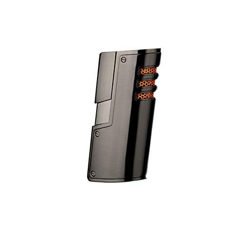 Sedux Gasfeuerzeug - Nachfüll Jet Feuerzeug mit 3 Flammen - Sturmfeuerzeug mit Geschenkbox - Anzünder für Zigarre Zigarette Pfeife