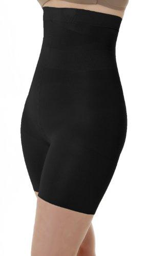 SLEEX hohe Miederhose mit Bein (44022) - Miederpants mit Bauch-weg Effekt, Größe XL, Black