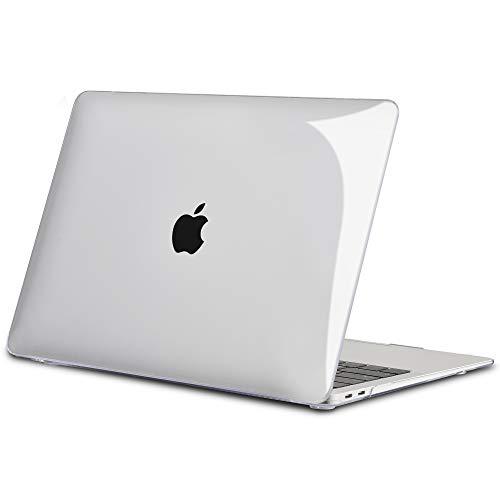 TECOOL Hülle für 2018 MacBook Air 13 Zoll Retina, Plastik Hartschale Matt Schutzhülle Case Apple MacBook Air 13,3 Zoll mit Touch ID (Modell:A1932) - Transparent